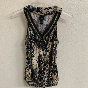 JTB Beaded Tanktop with print design, M